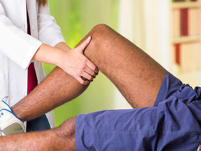 Physiotherapy treatment for a knee